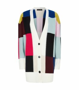 Wool-Cashmere Patchwork Cardigan