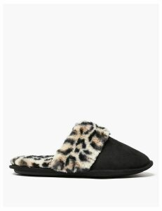 M&S Collection Faux Fur Cuff Mules