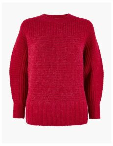 M&S Collection Ribbed Alpaca Blend Dolman Jumper