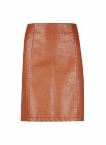 Womens **Tall Tan Pu Mini Skirt- Brown, Brown