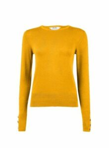 Womens Petite Yellow Ribbed Stitch Jumper, Yellow