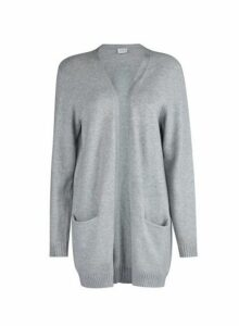 Womens **Vila Grey Knitted Cardigan, Grey