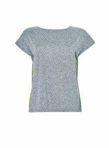 Womens Grey Active Wear Cross Back T-Shirt, Grey