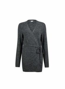 Womens **Vila Dark Grey Cardigan- Grey, Grey