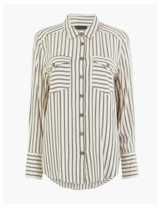 M&S Collection Striped Relaxed Fit Shirt
