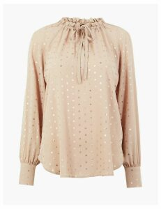 M&S Collection Metallic Polka Dot Blouse