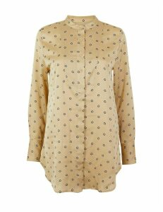 M&S Collection Ditsy Print Longline Shirt
