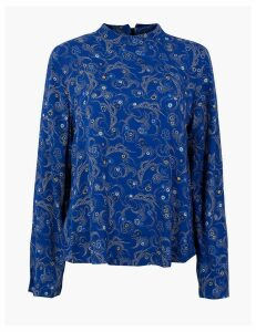 M&S Collection Constellation Print Woven Top