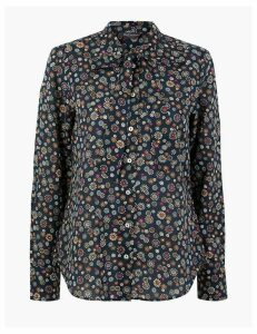 M&S Collection Pure Cotton Printed Blouse