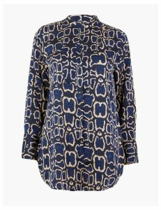 M&S Collection PETITE Animal Print Longline Shirt