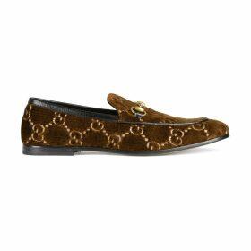 Men's Gucci Jordaan GG velvet loafer