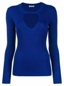 P.A.R.O.S.H. metallic knitted top - Blue