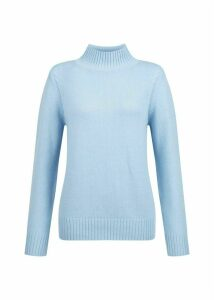 Freda Merino Wool Blend Sweater Pale Blue