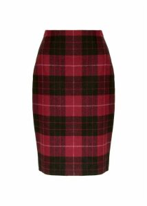 Daphne Wool Skirt Red Black