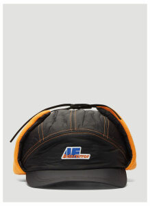 Ader Error Colour Block Baseball Cap in Orange and Black size One Size