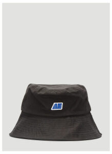 Ader Error The Logo Bucket Hat in Black size One Size