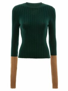 JW Anderson LONG SLEEVE RIBBED TOP - Green