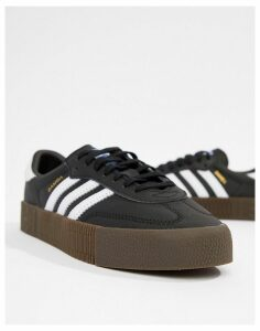 adidas Originals black and white gum sole Samba Rose trainers
