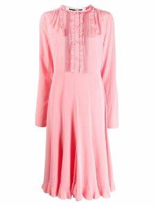 McQ Alexander McQueen pintucked midi dress - PINK