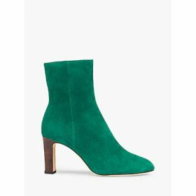 L.K.Bennett Mirabelle Suede Ankle Boots, Bright Green