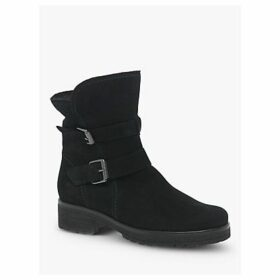 Gabor Shiraz Wide Fit Boots, Black Nubuck
