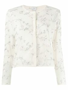 Giambattista Valli floral embroidered cardigan - White