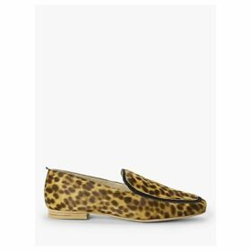 Boden Rae Leather Loafers, Tan Leopard