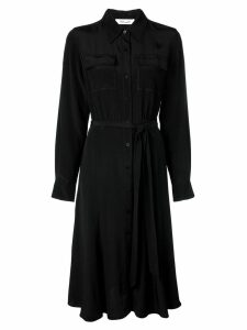 Diane von Furstenberg chest pocket shirt dress - Black