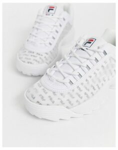 Fila Disruptor II trainers with clear logo panel