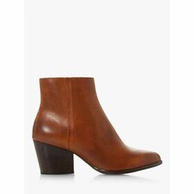 Bertie Poket Leather Block Heel Ankle Boots