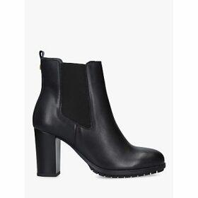 Carvela Comfort Royal Block Heel Leather Ankle Boots, Black