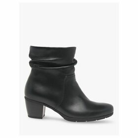 Gabor Eclipse Leather Ankle Boots, Black