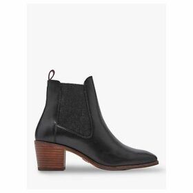 Joules Hartford Leather Chelsea Boots, Black