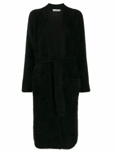 Roberto Collina long-line belted cardigan - Black