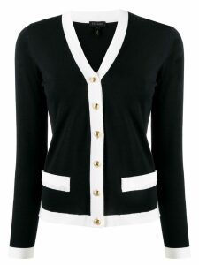 Escada two-tone cardigan - Black