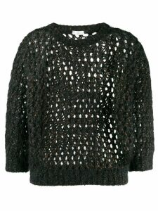Brunello Cucinelli open knit jumper - Black