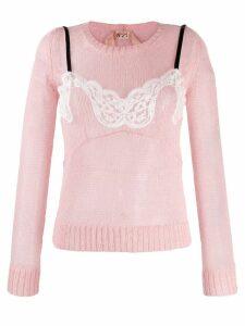 Nº21 lingerie top jumper - Pink