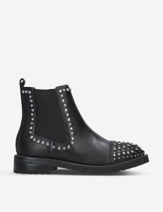 Raven studded leather Chelsea boots
