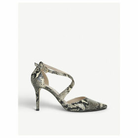 Kross 3 snakeskin-print faux-suede courts