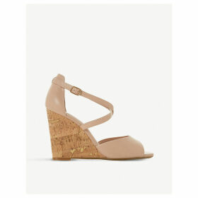 Majave crossover-strap wedge heel leather sandals