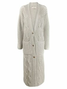 Gentry Portofino long cashmere cardigan - White