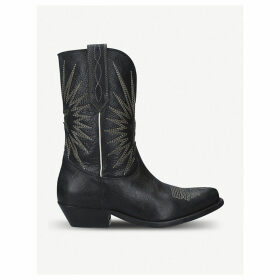 Wish Star leather ankle boots