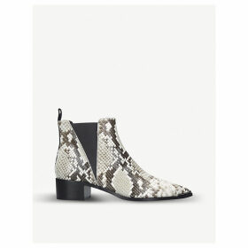 Jensen snake-print leather Chelsea boots