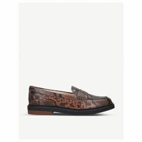 Fondo Gommino Pesante snakeskin-embossed leather loafers