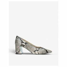 Sevilassa snake-print leather courts