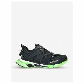Track nylon and mesh glow-in-the-dark trainers