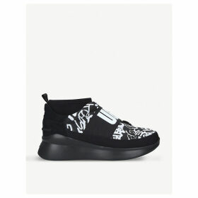 Neutra leather and neoprene trainers