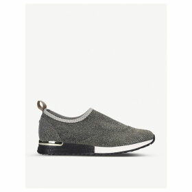 Cracker metallic knitted trainers