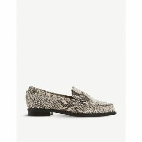 Grady snake-embossed leather loafers