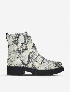 Hoofy leather biker boots